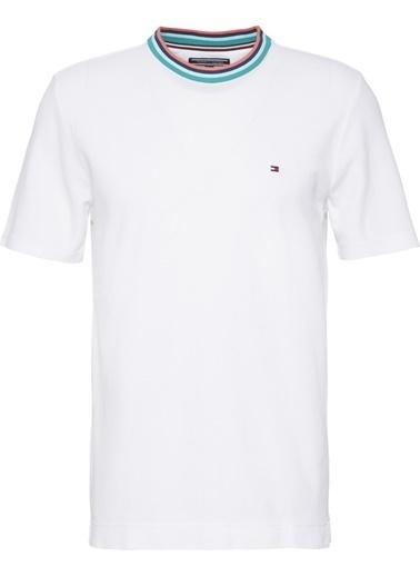 Tommy Hilfiger Erkek Playful Collar Fashıon Tişört MW0MW05256 Beyaz